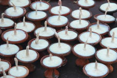 Butter Lamps. Royalty Free Stock Photography