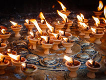 Butter lamps Stock Image