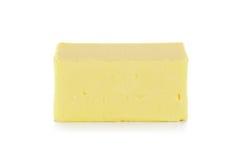 Butter lokalisiert auf dem weißen Hintergrund Stockfotos