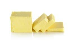 Butter lokalisiert auf dem weißen Hintergrund Lizenzfreie Stockfotografie