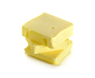 Butter lokalisiert auf dem weißen Hintergrund Lizenzfreies Stockbild