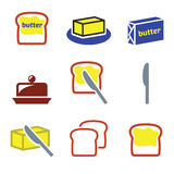 Butter or margarine  icons set Stock Photography