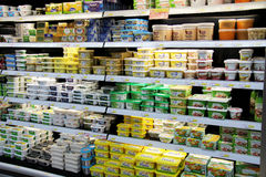 Butter & Margarine. Butter and margarine for sale in a supermarket Stock Photo