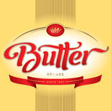 Butter packaging design () Stock Photo