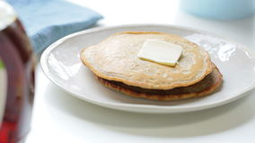 Butter on Pancakes stock footage