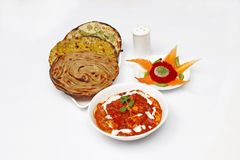 Butter Panner Paratha royalty free stock images