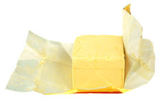 Butter in paper Stock Images