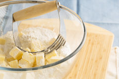 Butter and Pastry Blender Royalty Free Stock Photo
