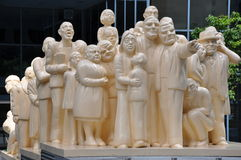 Butter People Statue in Montreal Stock Image