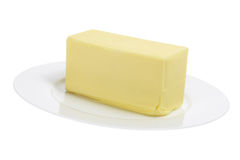 Butter on Plate Royalty Free Stock Image