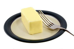 Butter on a plate Royalty Free Stock Photography