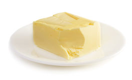 Butter on plate Stock Photos
