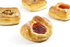 Butter Puff Pastry Danishes Stock Images