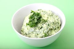 Butter with ramson Royalty Free Stock Photos