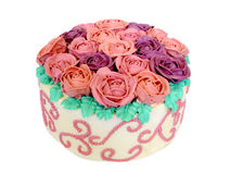 Butter Roses cake Royalty Free Stock Image