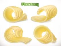 Butter rotation realistische Ikone des Vektors 3d stock abbildung
