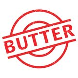 Butter rubber stamp Royalty Free Stock Photo