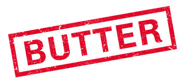 Butter rubber stamp Stock Photos