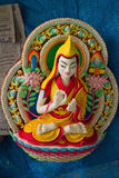 Butter sculpted Buddha at the Dalai Lama temple, McLeod Ganj, In Stock Photo