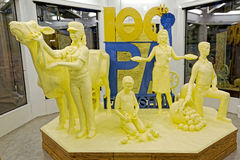 Butter Sculpture in Harrisburg Stock Photo