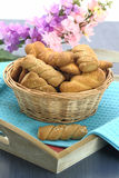 Butter shortbread biscuits Stock Photos