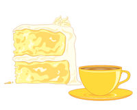 Butter sponge cake Royalty Free Stock Image