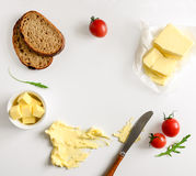 Butter spread or margarine background Royalty Free Stock Photo