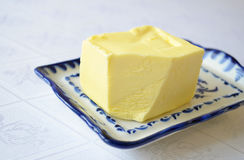 Butter on the table Royalty Free Stock Photos