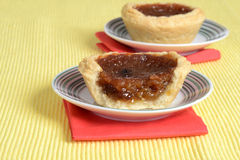 Butter tart on a plate Royalty Free Stock Photo