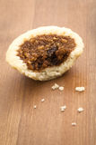 Butter Tart. On wood table Royalty Free Stock Photography