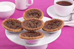 Butter tarts and tea Royalty Free Stock Photo