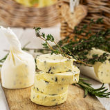 Butter with thyme and rosemary lemon zest Royalty Free Stock Image