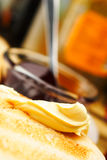 Butter on Toast Stock Images