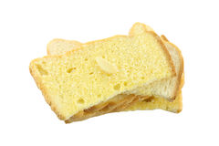 Butter toasted bread isolated. Stock Photography