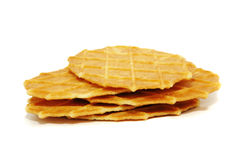 Butter wafers Stock Photo