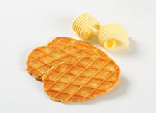 Butter waffle cookies Stock Photography