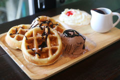 Butter waffle Stock Photography
