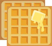 Butter Waffles Royalty Free Stock Photo