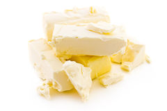 Butter on a white background Stock Image