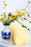 Butter with wildflowers Stock Photography