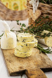 Butter With Thyme And Rosemary Lemon Zest Royalty Free Stock Photos