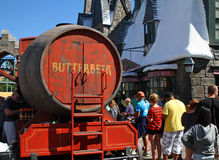Butterbeer Wagon. ORLANDO - OCT 25: The Butterbeer wagon in Wiizarding World at Universal Islands of Adventure in Orlando. Taken October 25, 2013 in Orlando, FL stock photography
