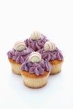 Buttercream黑醋栗杯形蛋糕用块菌状巧克力 免版税库存图片