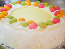 Buttercream colorful cake Stock Photography