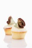 Buttercream cupcake with chocolate fan Stock Photo
