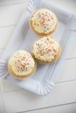 Buttercream Vanilla Cupcakes Stock Images
