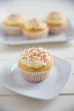 Buttercream Vanilla Cupcakes Royalty Free Stock Photos