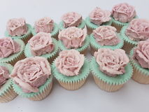 Buttercream vintage rose cupcakes Stock Images