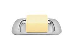 Butterdish mit Butter Lizenzfreies Stockbild