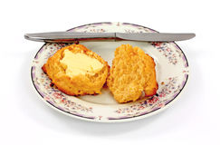 Buttered Biscuit Stock Photography